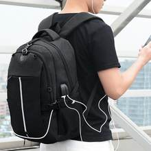 Fashion USB Charge Backpack for Men Unisex Boys Girls Casual Large Capacity Backpack Anti-theft Sports School Bag bolsa feminina(China)