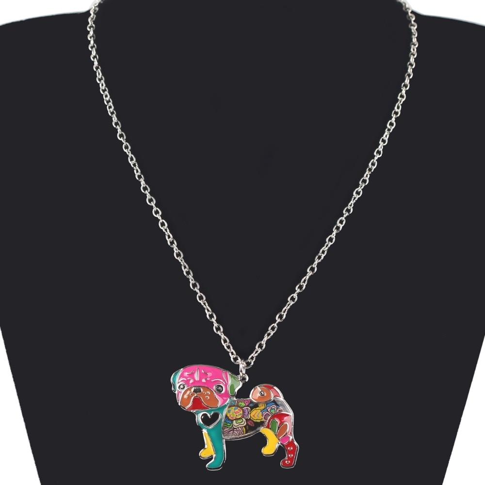 Pug Nose Dog - Fashion Jewelry Enamel Necklace 5