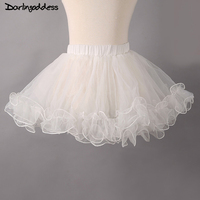 2017 New Anagua White Tulle Puffy Little Girl Wedding Petticoat 2017 Wedding Accessories Women Underskirt Baby