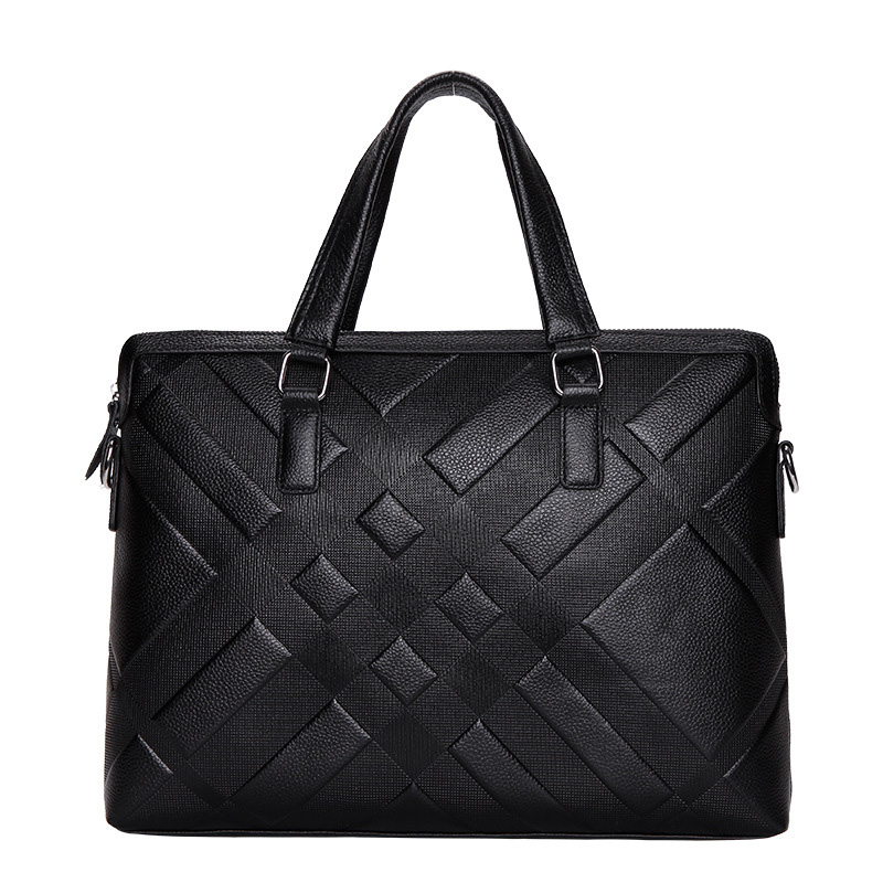 Men's Briefcase Business Tote Computer-Bag Crossbody-Bag Messenger Luxury New Male Split