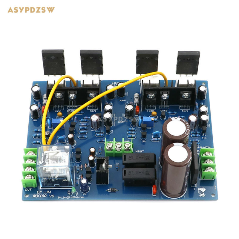 MX100 Dual channel TTA1943 TTC5200 Power amplifier finished board With power speaker protection 200W 200W