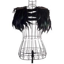 Envío gratuito moda chaleco mujer cantante ds disfraz jazz danza trajes ropa  pluma pequeña capa baile accesorios F-0391 8215e104dd5