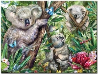5d Diy Mosaic Art Needlework Diamond Painting Koala Bear Rhinestone Pasted Cross Stitch Animal Diamond Embroidery