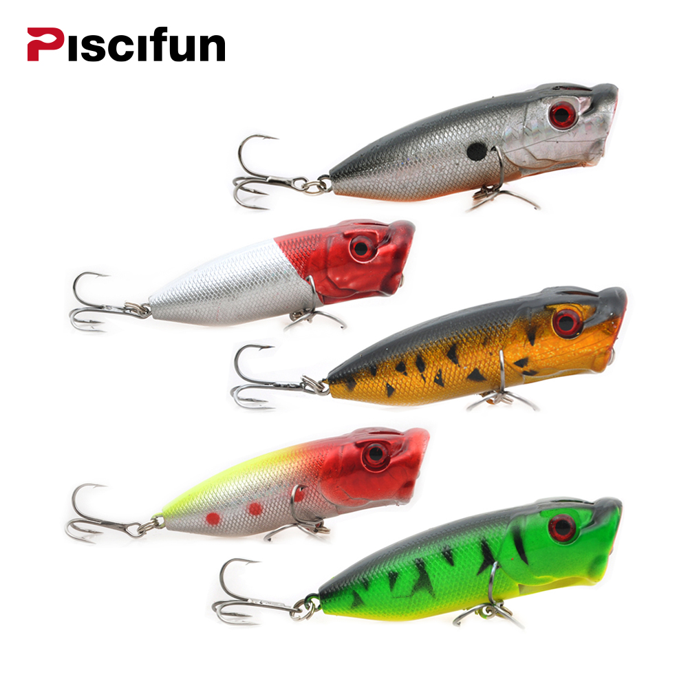 Piscifun Поппер рыбалка приманки 5 шт./лот 65 мм рыболовные приманки Bionic приманка рыбалка Crankbait жесткие приманки рыбалка жесткий приманки
