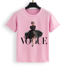 Summer Tops Vogue princess Printed Womens T Shirt Woman New Fashion T-shirt Cothes Plus Size S-XL Casual Female T-shirts