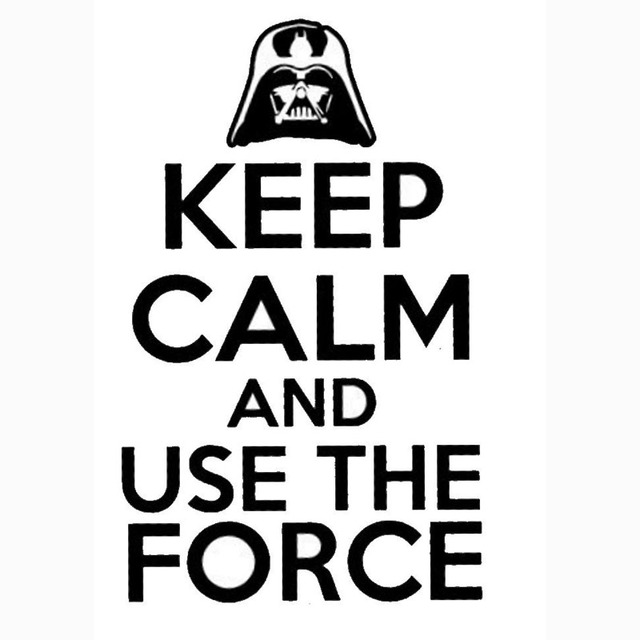 11 8x19cm keep calm and use the force interesting vinyl decal car sticker car styling