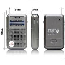 Best price Degen radio DE333 FM AM Radio Receiver Mini Handle Portable Two Band FM Radio A0796A Wholesale free shipping