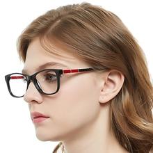 Fashion Clear Glasses Frames Women Radiation Protection Anti Blue Light Black Spectacle Frame Nerd Eyeglasses MARE AZZURO OC7064 fashionable radiation protection antifatigue full frame glasses black