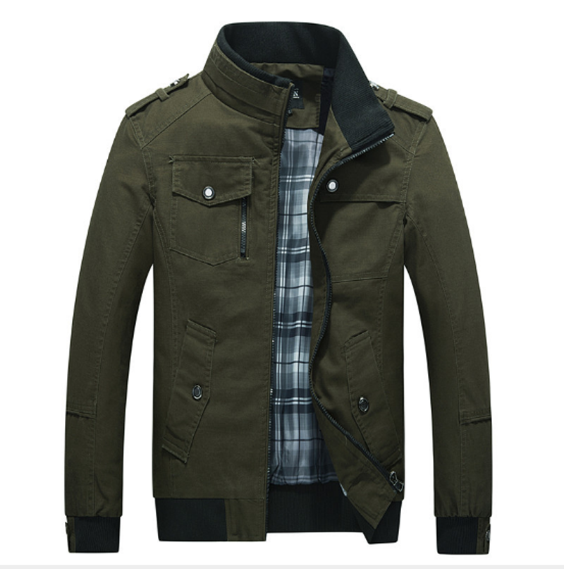 2019 Autumn Casual Men Jacket Army Green Brand Clothing Military Coats Jaqueta Masculina Man Pilot Bomber Jackets Dropshipping