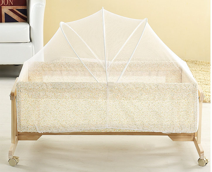 Portable Baby Bed Crib Folding Mosquito Net Cushion Mattress Summer Baby Infants Mosquito Mesh Crib Netting