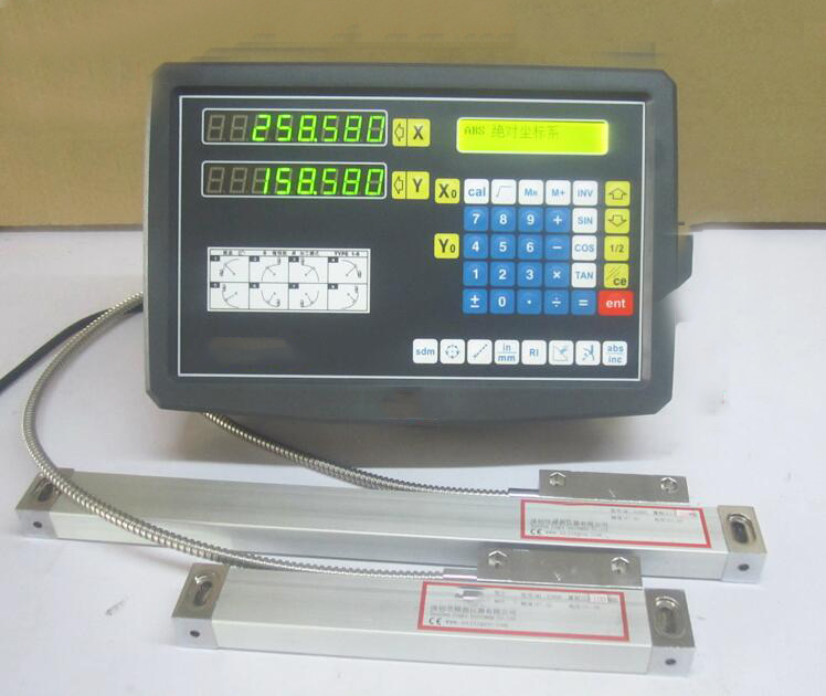 High Accuracy 2 Axis DRO Linear Scale+Digital Readout for Milling Machine with 2pcs Linear Sensors 150mm & 250mm  цены
