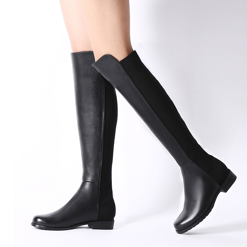Popular Flat Thigh High Boots Size 11-Buy Cheap Flat Thigh High ...