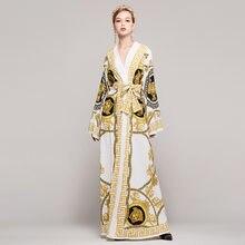 Runway Fashion Dress 2017 Plus Size Women Vintage Autumn Winter Ladies Long  Evening Party Club Boho Maxi Palace Fall Dresses 712fb18f0bd4