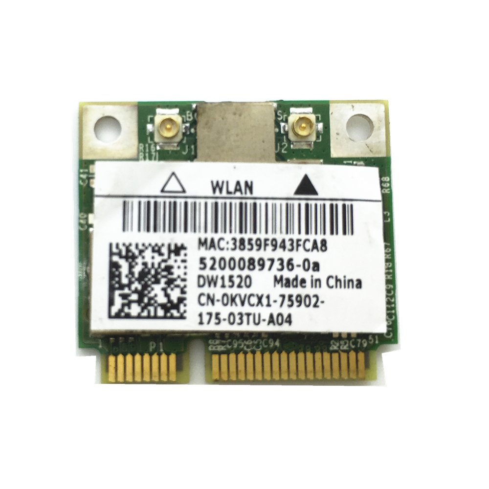 Half MiniPCI-E Card 300Mbps For DW1520 Wireless Card Broadcom BCM43224 BCM943224HMS Free Shipping