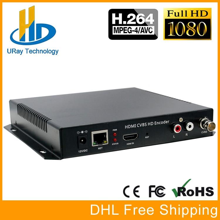 DHL Free Shipping MPEG4 HDMI + CVBS /Composite /BNC + R /L Audio Video Audio Encoder H.264 IPTV HD Live Streaming Encoder hd hdmi live streaming devices h 265 encoder hardware for video streaming over 4g encoder digital camera hot shoe mount foxwey