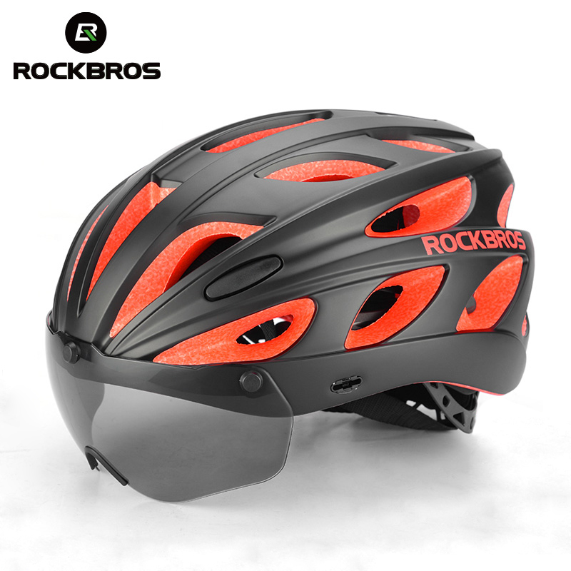 ROCKBROS Bicycle Helmets Integrally-molded Ultralight Helemt MTB Mountain Road Cycling Bike Helmets Sunglasses Bike Accessories new bicycle helmets sunglasses cycling glasses 3 lens integrally molded men women mountain road bike helmets 56 62cm