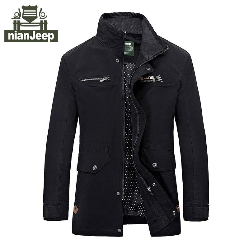 Large Size M-4XL 2017 Men's Casual Jacket Denim Jacket Coat Parka Military brand clothing men's military jacket men's coat