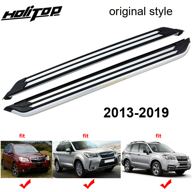 side step bar pedals running board for Subaru Forester 2013 2018 original style hole sale in