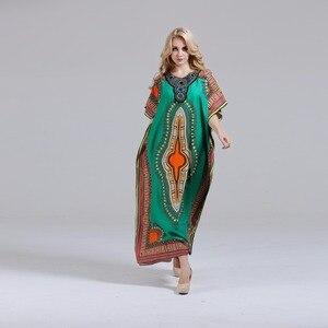 Image 3 - Dashikiage Nieuwe Mode Vrouwen Dashiki Jurk 100% Katoen Afrikaanse Print Maxi Vestidos Robe Africaine Femme Dashiki Jurk