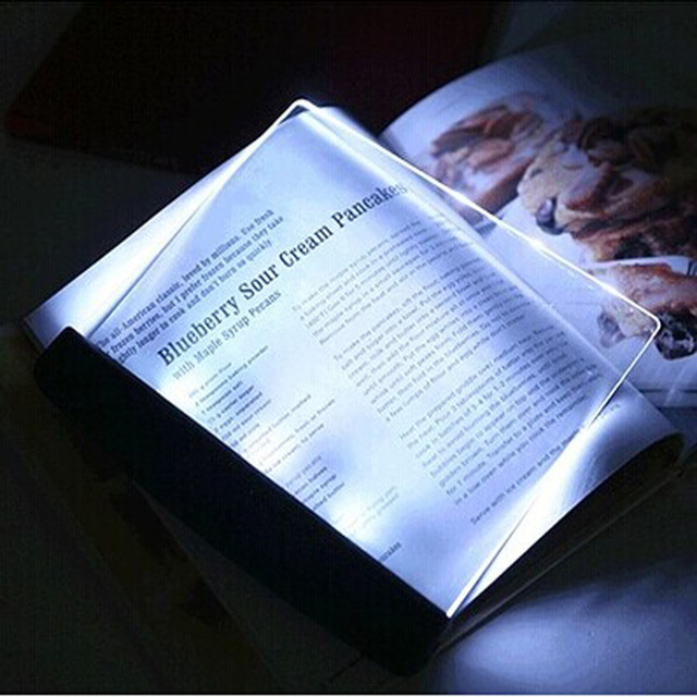 Novelty Portable Luz LED Book Reading Panel Light