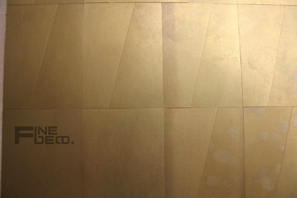 Gouden Mozaiek Tegels : Antieke gouden kleur messing mozaïek tegel voor interieur in