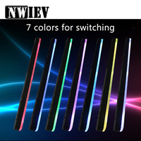 NWIEV Car window solar atmosphere light Adjustable and colorful For Volkswagen BMW E46 E39 M Audi A4 B6 B8 A5 Ford focus 2 3 mk2
