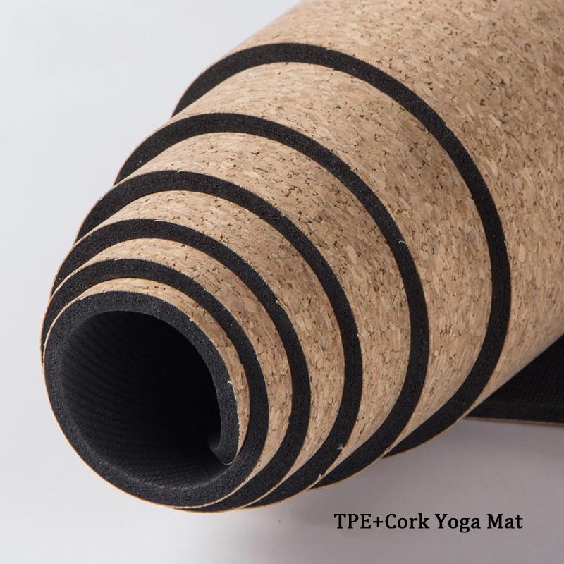 5MM/6MM/8MM Non-slip Cork Natural Rubber Yoga Mats For Fitness Women Pilates Gymnastics Mats Brand Yoga Exercise Pads Sport Mat