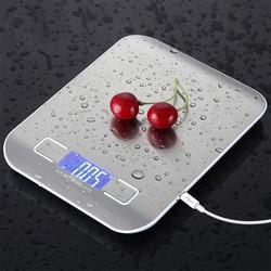ステンレス鋼デジタル USB キッチンスケール 10 キロ/5 キロ電子精密郵便食品ダイエットスケールを調理するための測定ツール