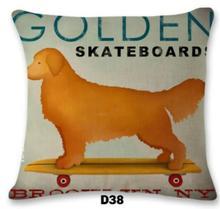 Home Decorative Car Sofa Bull Terrier Dog Cushion French Bulldog Fundas Almofadas Cojines Cushions Pillow Covers