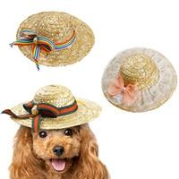 애완 동물 개 고양이 복장 캡 농부 모자