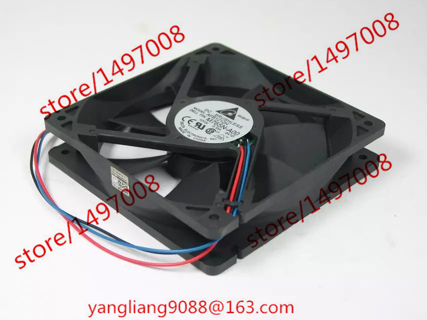 DELTA AFB1212H, -8V1D P/N:M765N-A00 DC 12V 0.35A 3-wire 3-Pin 80mm 120x120x25mm Server Square Cooling fan  crafter d 8 12 n