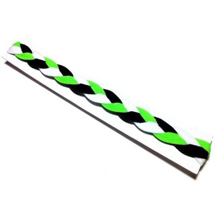 Neon green black white yoga headband softball headband 3 rope non-sllip braided headband for Girls Women kids