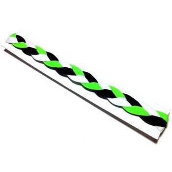 Neon green black white yoga headband softball headband 3 rope non-sllip braided headband for Girls Women kids - DISCOUNT ITEM  0% OFF All Category