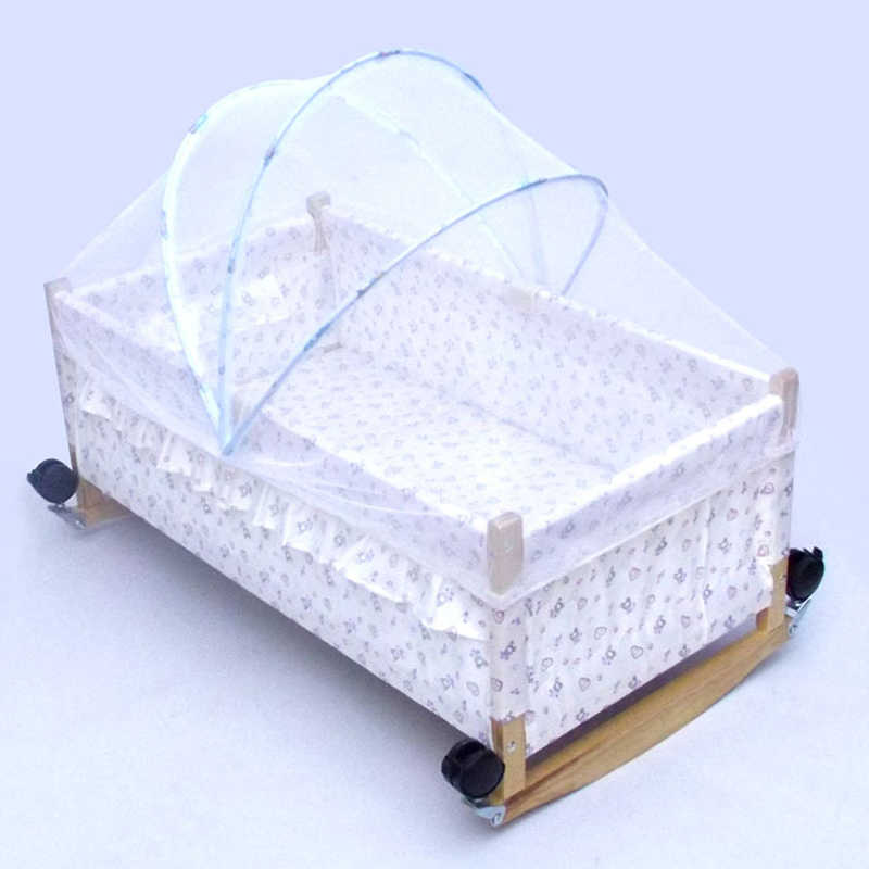 Arched Large Size Baby Crib Netting Crib Summer Anti-Mosquito Insect Baby Cradle Crib Netting White Mesh Net 80-100cm Length