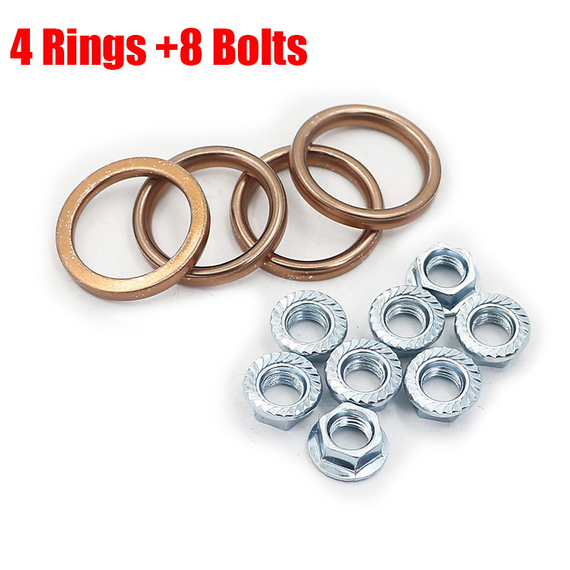 Exhaust Manifold Gasket Seal Repair Set For Honda VF1000F Interceptor 1984 VF1100C V65 Magna 83-86 VF1100S V65 Sabre 84-85