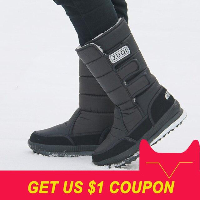 2018 Men Boots 플랫폼 눈 boots 대 한 men 두꺼운 봉 제 방수 slip-저항하는 겨울 shoes Plus size 36- 47