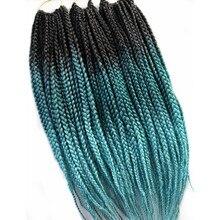 1 упаковка Pervado волосы африканские 3s коробка косички вязанные волосы для наращивания 18 дюймов 46 см черный зеленый синий красный синтетические волосы Омбре 120 г/шт