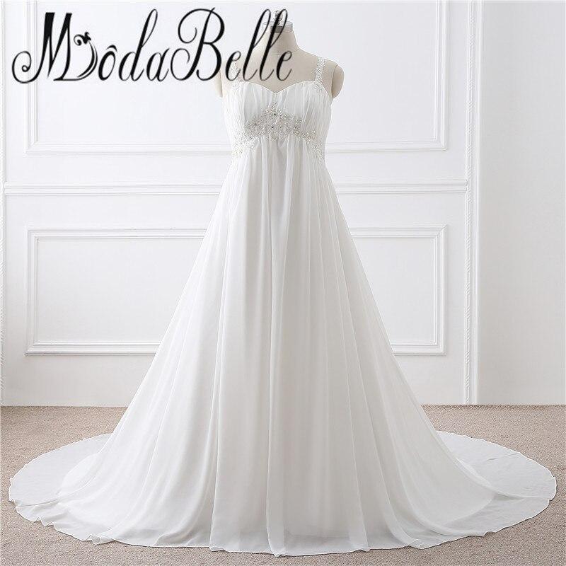 Simple Plus Size Wedding Dresses: 2017 Modest Plus Size Wedding Dresses For Pregnant Women