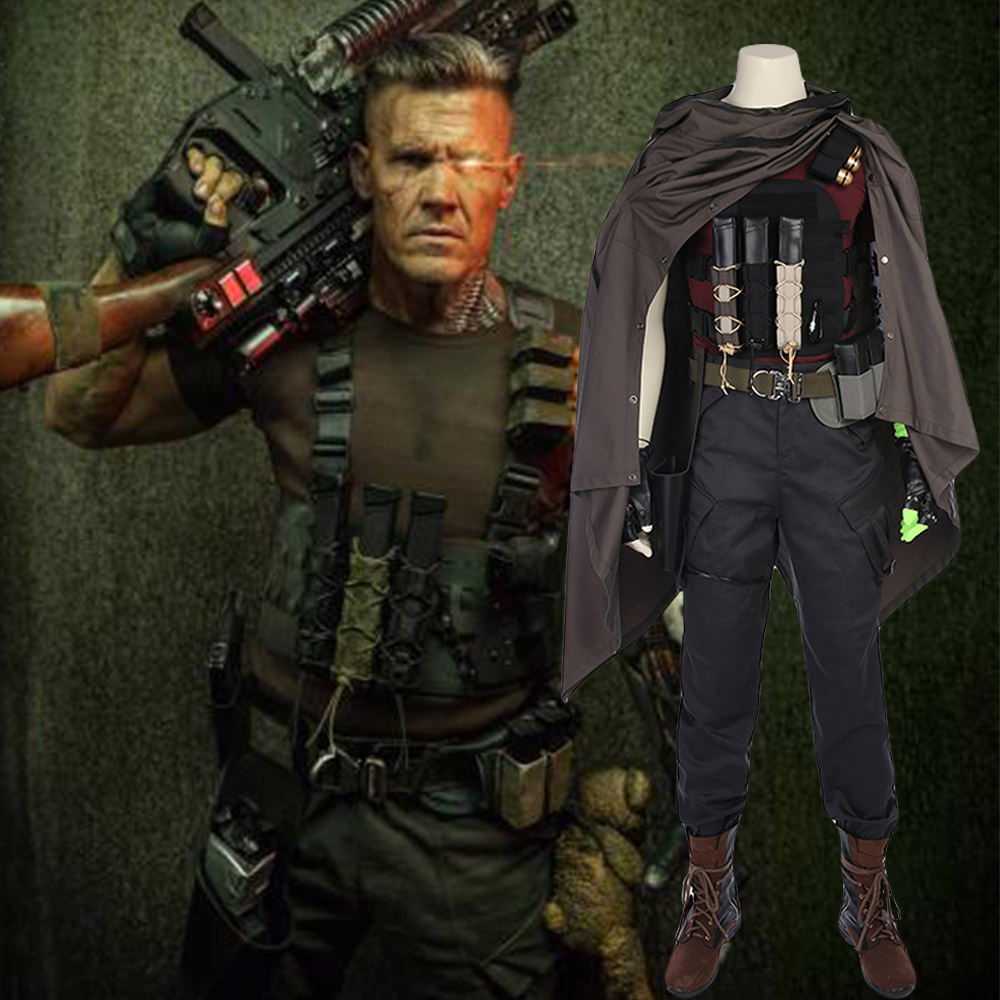 Marvel Comics Deadpool 2 Cosplay Nathan Summers Costume Full Set Uniform For Halloween Party Men Male Suit