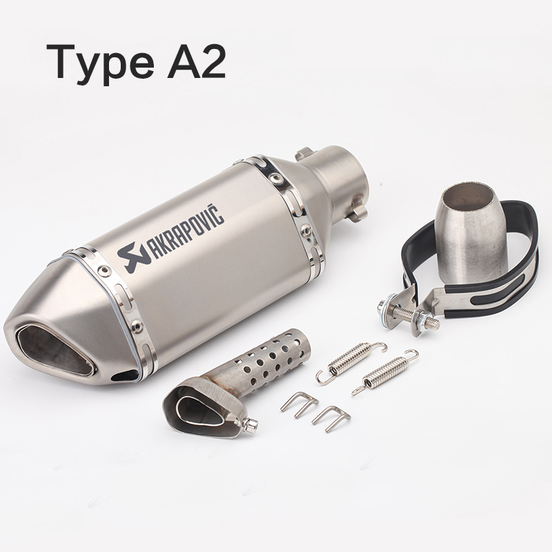 51MM Universal Motorcycle Exhaust Pipe Muffler Akrapovic Escape Moto with db killer For honda CB400 fz1 r6 cb1000r r15 cbr650f