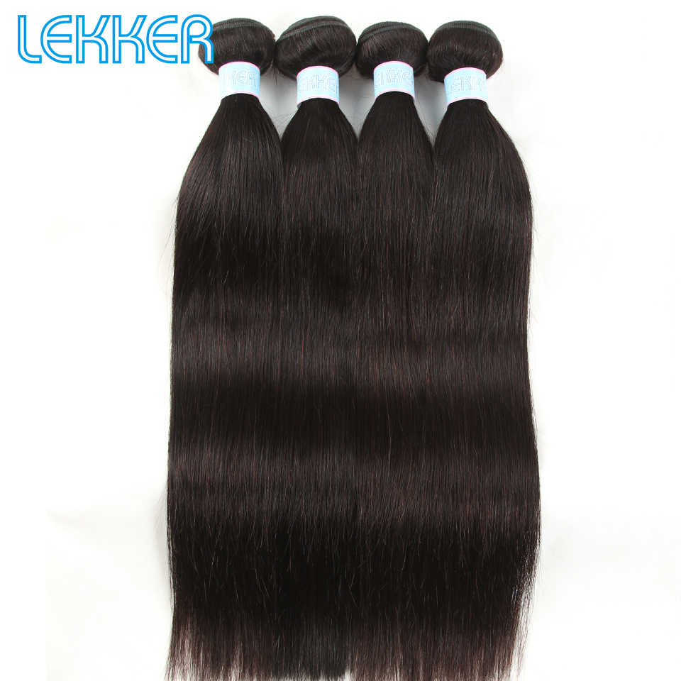 Lekker Malaysian Straight Hair Bundles Natural Color 100% Human Hair Extensions 8-30 Inch Natural Color Soft Human Hair Bundles