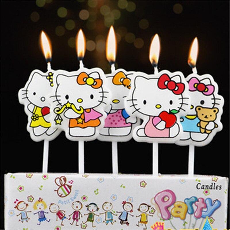 5pcs Underwear Swimwear Ufo Airship Printed Cartoon Girls Boys Theme Happy Birthday Candle Kids Party Cake Decoration Supplies Wedding & Anniversary Bands