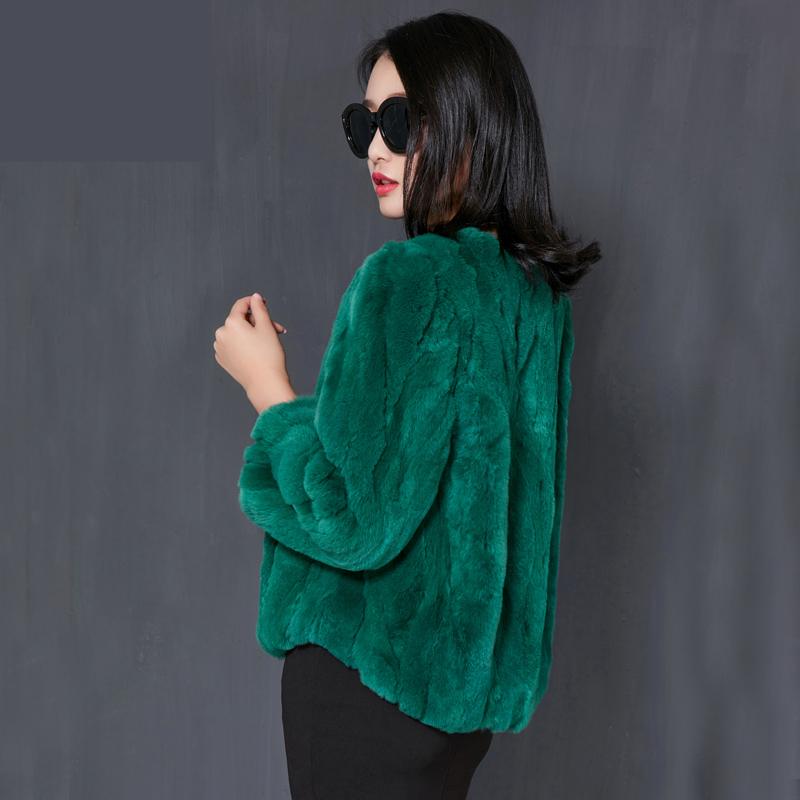 Special offer new Rex rabbit hair jacket fur short paragraph 7 points loose large size new female