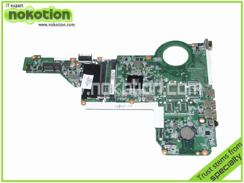 NOKOTION 731534-501 Laptop motherboard For Hp 17Z-E000 UMA A4-5000 CPU Onboard DDR3 nokotion for hp sleekbook 14 b laptop motherboard 714618 501 715866 501 da0u33mb6d0 with i3 2367m cpu onboard