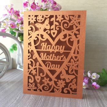 100pcs/lot 2019 Vintage Small Flora Pattern Invitations Card Mother's Day Gift Thank You Card Best Wishes Card