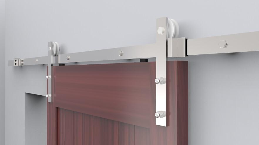 Guia puerta corredera madera elegant gua para puerta for Puerta granero madera