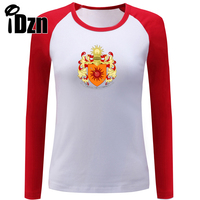 IDzn frauen t-shirt Game of Thrones Sonne Haus Martell von Sunspear Unbowed Ungebogenen Ungebrochen Weibliche Lange Hülse T-shirts Tops