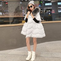 Fashion New Autumn Winter New Women Cotton Thick Winter Coat Parka Jackets Coats Down Parkas