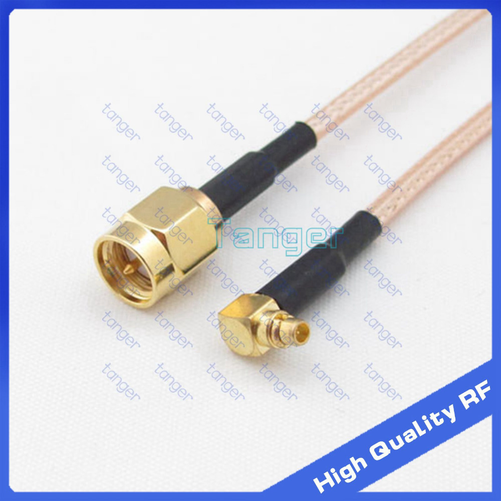 High Quality RF connector MMCX male right angle to SMA male with 20cm 8in RG316 RG-316 RF Coaxial Pigtail Jumper Low Loss cable hot mmcx male plug to n female jack 4four hole panel straight with 20cm 8inch rg316 rf coaxial pigtail jumper low loss cable