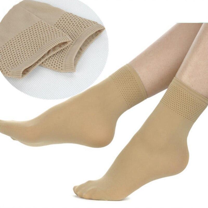 5pairs/lot Autumn Winter High Elastic Velvet Nylon   Socks   for Women Skin Color Short   Socks   Anti-hook Wire Resistant to Wear
